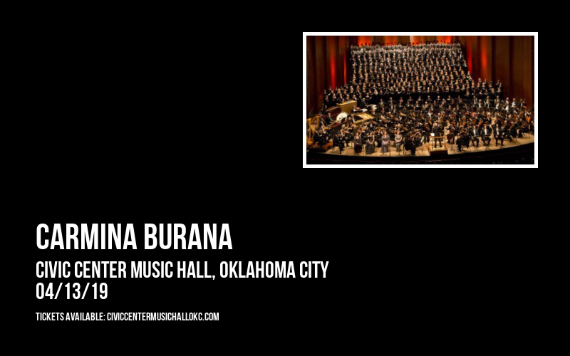 Carmina Burana at Civic Center Music Hall